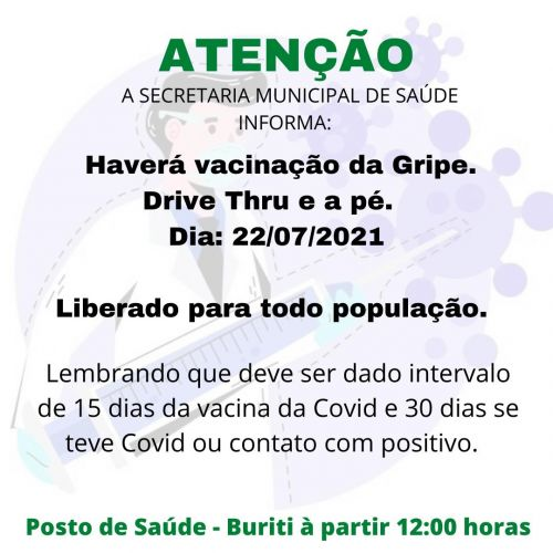 VACINAÇÃO GRIPE.