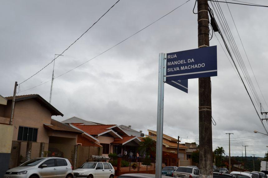 RECUPERAÇÃO DA RUA MANOEL DA SILVA MACHADO EM FASE FINAL