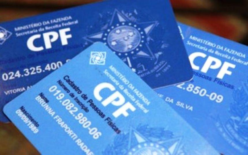 Ministério da Economia disponibiliza novo formulário para emissão de CPF