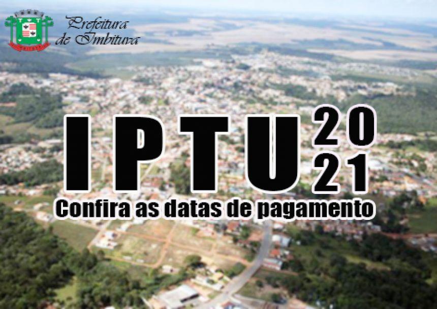 Pagamento do IPTU/2021 é prorrogado para o mês de junho