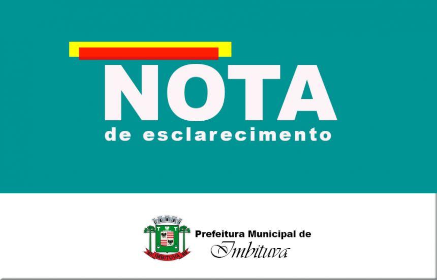 NOTA DE ESCLARECIMENTO - Alteração da alíquota previdenciária para servidores do regime estatutário