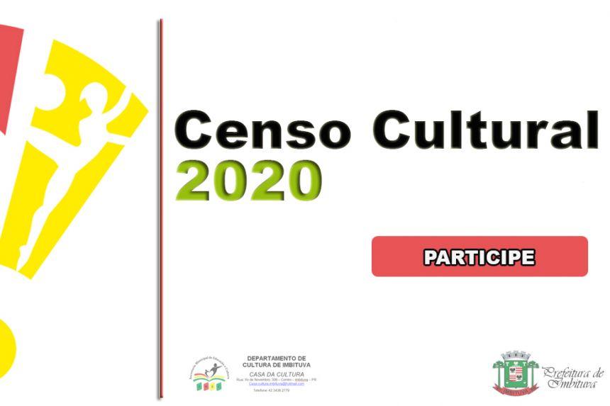 Censo Cultural 2020 - Clique e participe