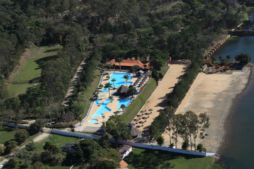 Vista a�rea do Clube de Campo Vale dos Sonhos