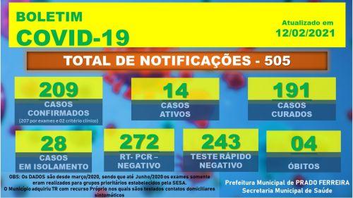 Centésimo Quinquagésimo Segundo Boletim Epidemiológico COVID-19 (12/02/2021)