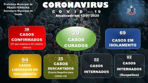 Quadragésimo Nono Boletim Epidemiológico COVID-19 (13/07/2020)