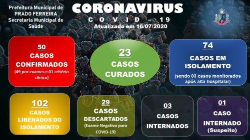 Quinquagésimo Segundo Boletim Epidemiológico COVID-19 (16/07/2020)