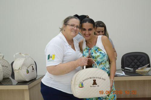 REUNIÃO DE GESTANTE E ENTREGAS DE KITS DE BEBÊ - JUNHO - 2019