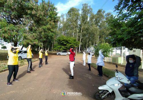 Professores e alunos da Rede Municipal de Ensino de Perobal, participaram do dia do Desafio nesta ultima quarta feira (26)