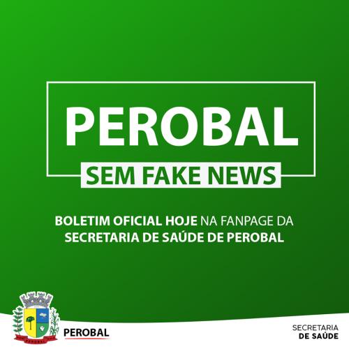 NOTA OFICIAL SECRETARIA DE SAÚDE DE PEROBAL - COVID -19