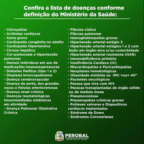 Adolescentes de 12 a 17 anos com comorbidades podem se vacinar contra a Covid-19 nesta Sexta-feira em Perobal