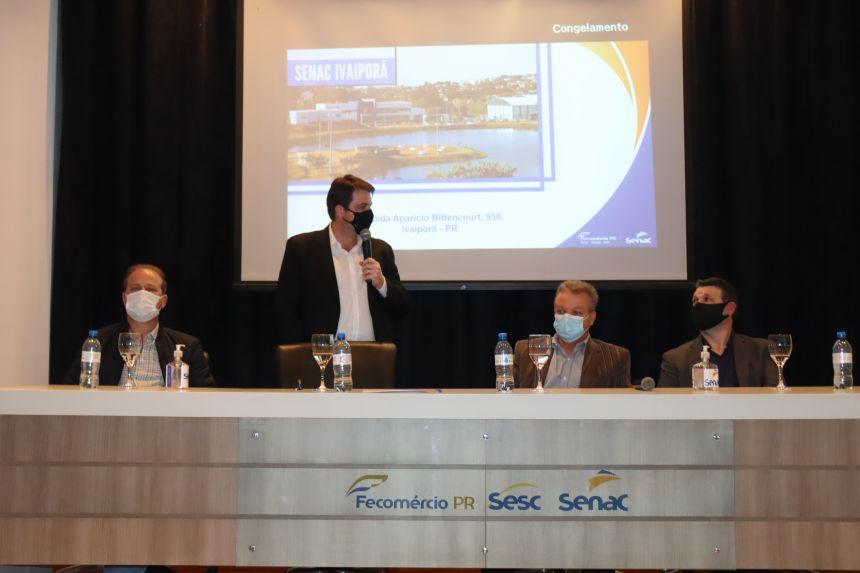 Prefeito Carlos Gil participa de encontro com diretores regionais do Sesc e Senac em Ivaiporã