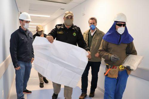 Corpo de Bombeiros vistoria Hospital Regional de Ivaiporã