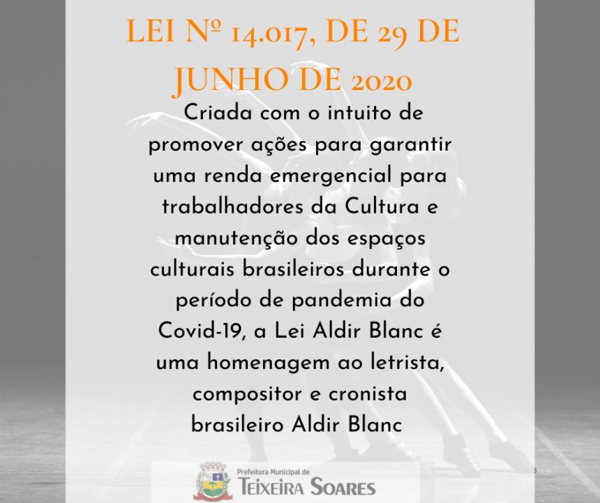ABERTA AS INSCRIÇÕES PARA OS EDITAIS DA   Lei 14017 /2020 ALDIR BLANC EM NOSSA CIDADE