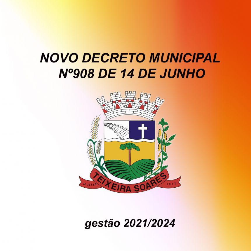Decreto nº 908 entra em vigor dia 14-06 até 20-06