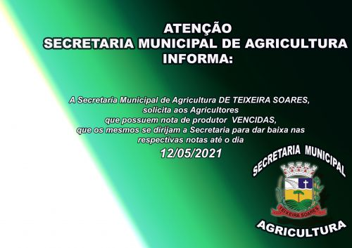 SR. AGRICULTORES DO MUNICÍPIO