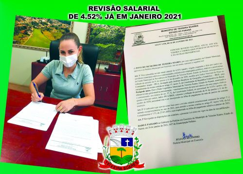 Prefeita Concede Revisão Salarial para Servidores