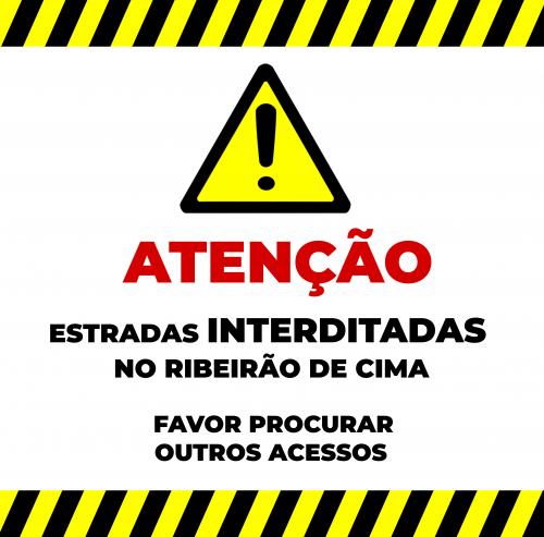 ATENÇÃO  2ª FASE DAS OBRAS DE PAVIMENTAÇÃO  INICIADAS NA COMUNIDADE