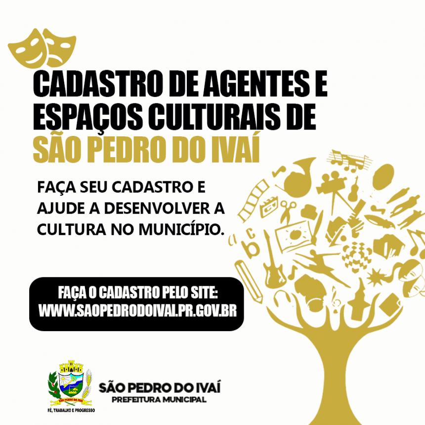 Prefeitura de São Pedro do Ivaí abre cadastro para agentes culturais e profissionais da cultura