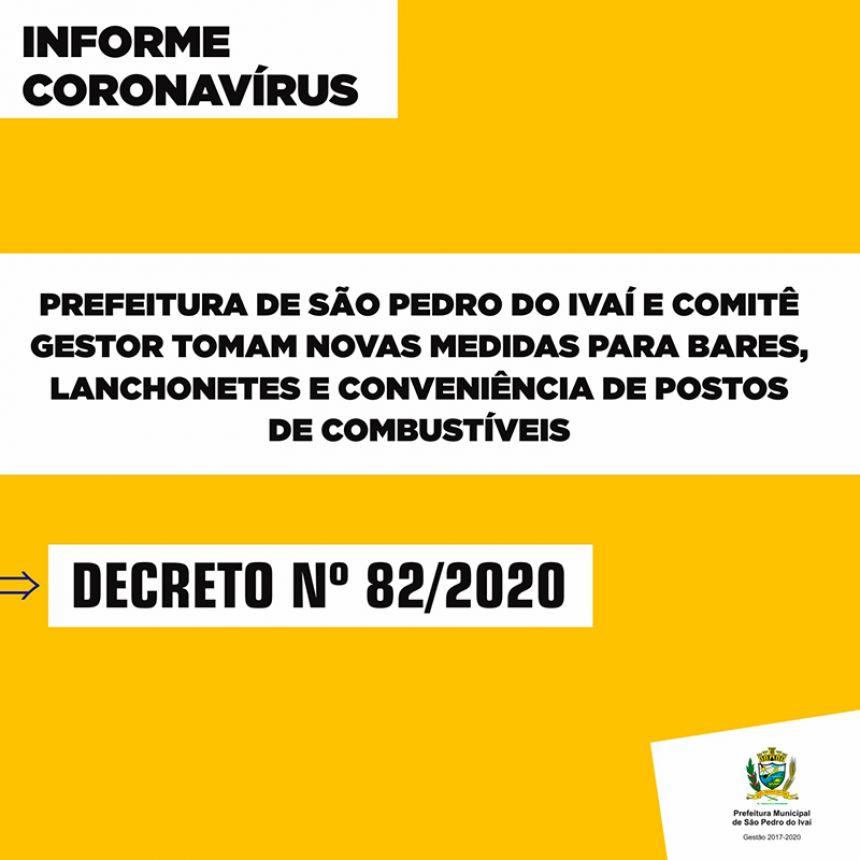 Bares, lanchonetes e conveniências de postos de combustíveis devem fechar às 20h, segundo novo Decreto