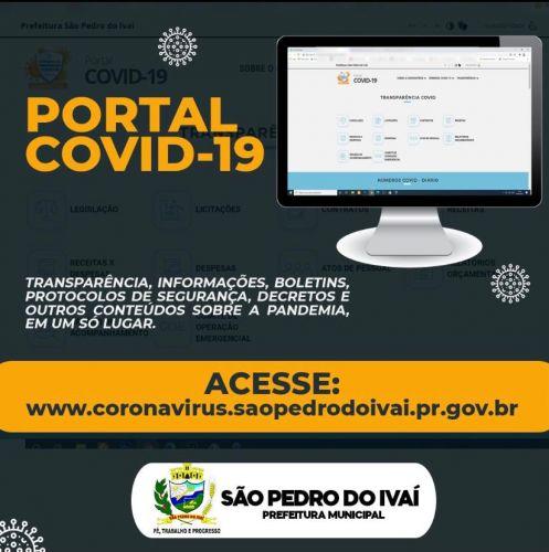 São Pedro do Ivaí lança portal para prestar contas da pandemia do Coronavírus