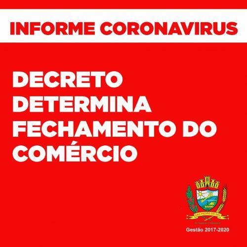 Em decreto, prefeito decide pelo fechamento do comércio em São Pedro do Ivaí; leia