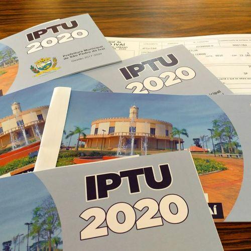 Pagamento do IPTU com 20% é até dia 10 de julho