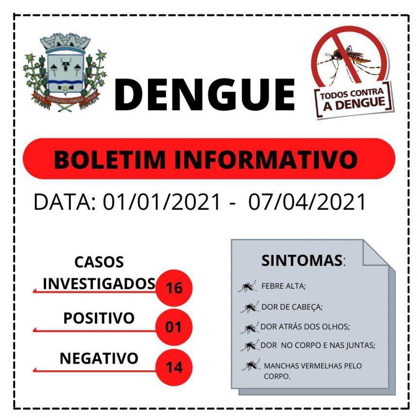 BOLETIM CASOS DE DENGUE
