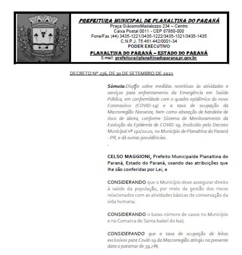 DECRETO Nº 236 - COVID-19