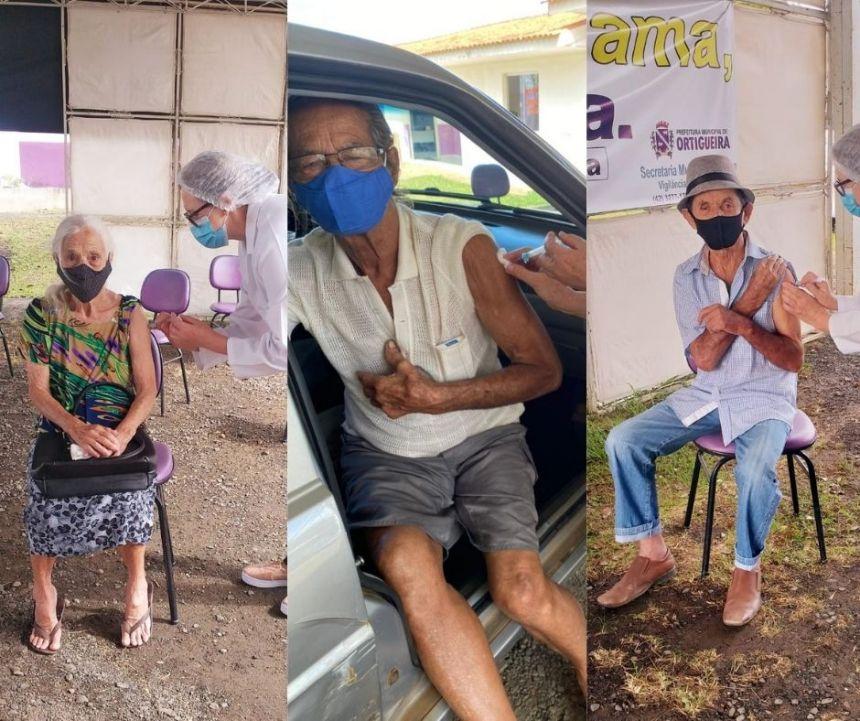 Ortigueira imuniza idosos a partir de 85 anos nesta quarta-feira