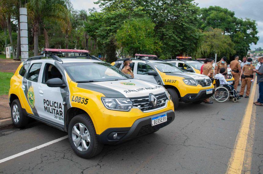 Quatro viaturas reforçam combate ao crime na região