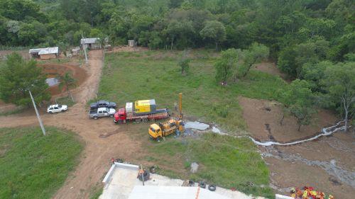 Poço Artesiano vai produzir em média 22,5 metro Cúbico de Água por hora!