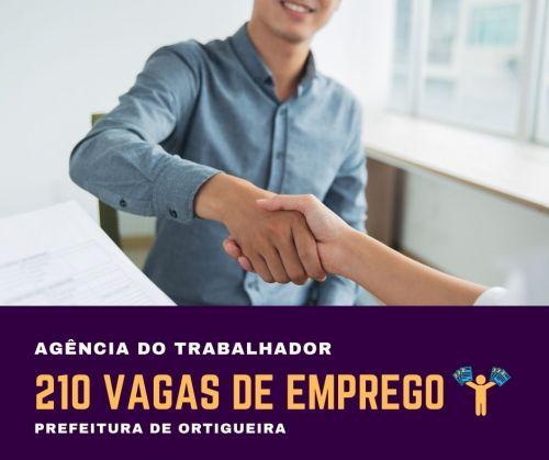 Agência do Trabalhador: mais de 200 vagas disponíveis