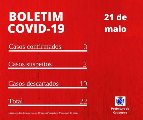 Boletim Covid-19: três novos casos sob suspeita