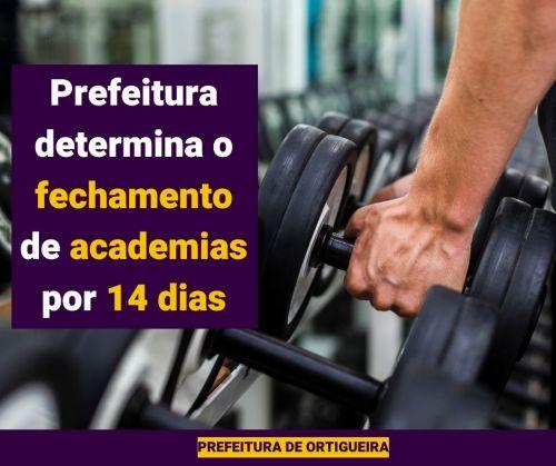 Prefeitura determina fechamento de igrejas e academias por 14 dias