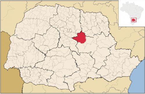 Mapa do município de Ortigueira