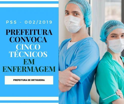 Prefeitura convoca 5 técnicos em enfermagem