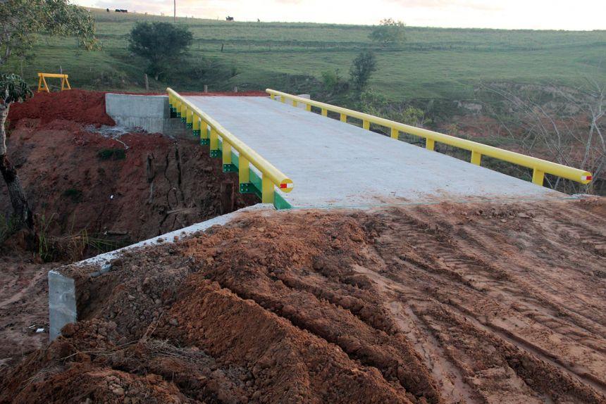 Ponte do Córrego do Engano será inaugurada nesta sexta-feira, em Mariápolis