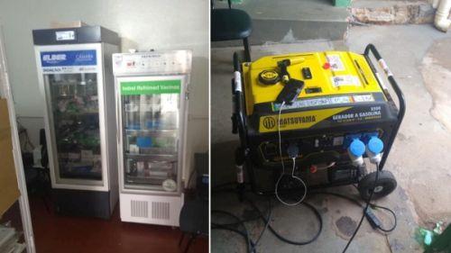Mesmo com falta de energia elétrica, vacinas protegidas com gerador, em Mariápolis