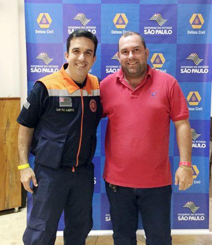 Capitão Alberto e o assessor de Meio Ambiente Antonio Carlos
