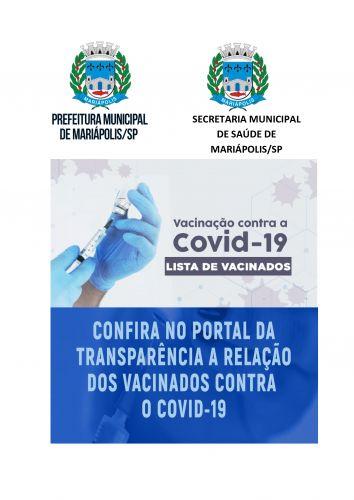 Lista dos nomes das pessoas vacinadas contra a Covid-19, do Município de Mariápolis, Mês 02/2021