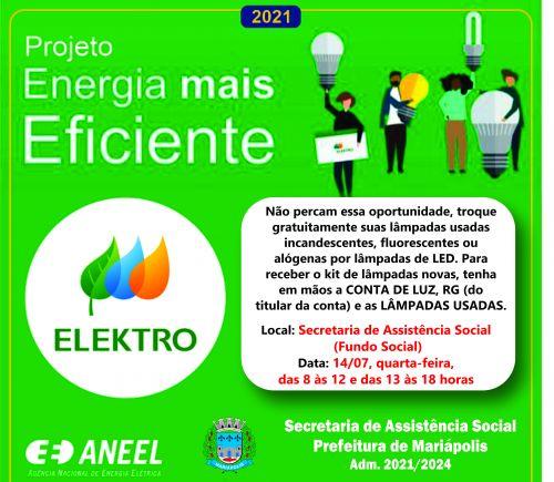 Parceria entre Prefeitura de Mariápolis e Elektro fará troca gratuita de lâmpadas incandescentes por lâmpadas de LED
