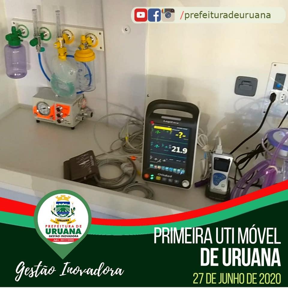 Na manhã deste sábado, 27, o Prefeito Cássio Gusmão e a Secretária de Saúde Divina Arruda entregaram uma UTI móvel totalmente equipada para atender a população de Uruana.