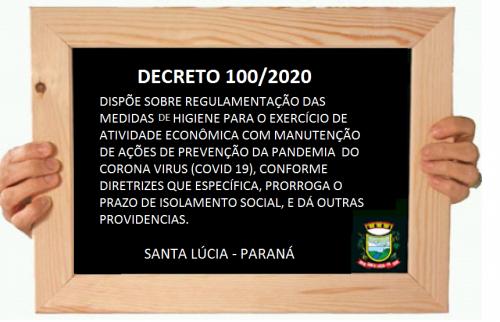 DECRETO Nº 100 DE 17 ABRIL DE 2020
