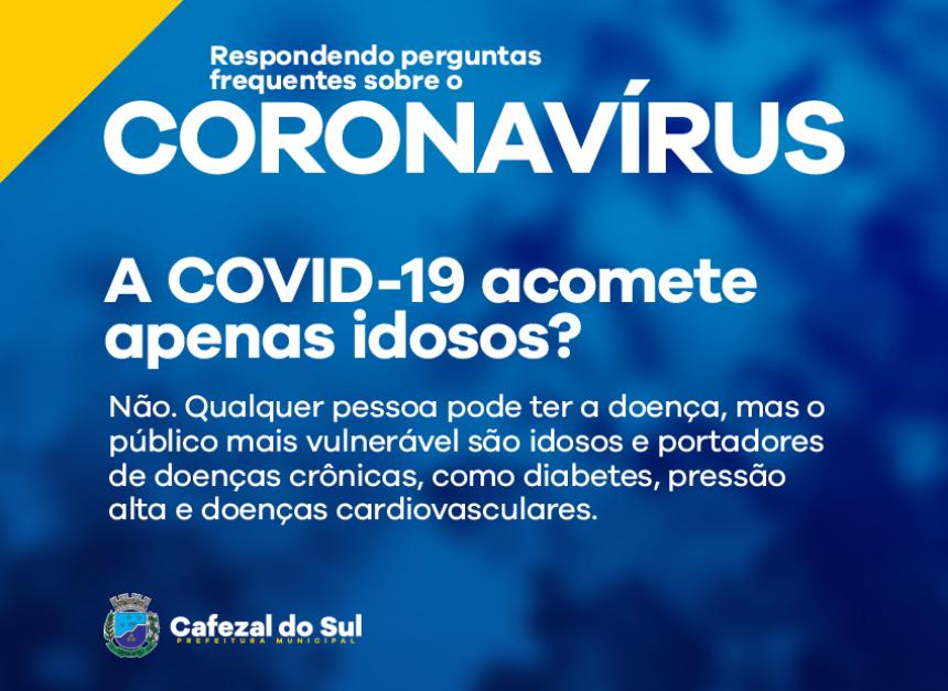 A COVID-19 ACOMOTE APENAS IDOSOS?