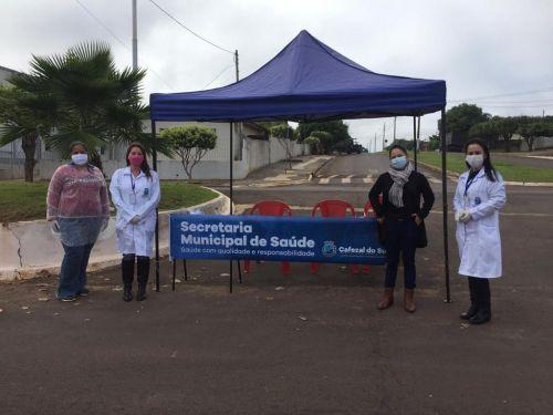 Secretaria de Saúde realiza barreira sanitária