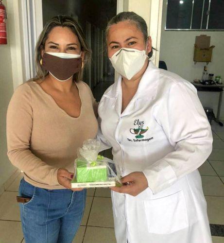Equipe médica e equipe de enfermagem recebem kit para combate ao Covid 19