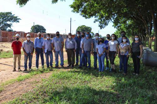 Equipe realiza visita técnica às obras de casas populares no distrito de Jangada