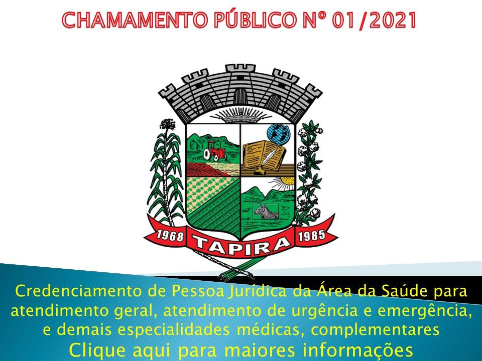 EDITAL DE CHAMAMENTO PÚBLICO - Nº. 001 / 2021