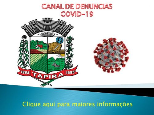CANAL DE DENÚNCIA - COVID 19