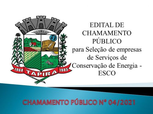 CHAMADA PÚBLICA N.º 04/2021